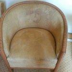 fauteuil taché