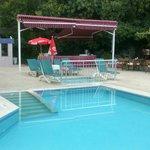 Pool/buffet breakfast area.