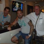 me with spiros and costas