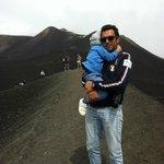 Foto sul cratere dell'Etna