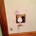 plug socket next to shower !!