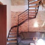stairs to terrasse and master bedroom
