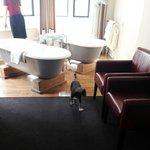 Twin Baths + Telescope in room