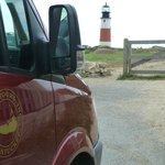 At Sankaty Head lighthouse, we alighted from the van and looked around for a bit.