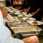 All hands on deck in Splendido kitchen for a fundraising dinner for 100
