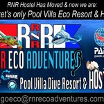 Rick N' Roll & RNR Hostel has moved to A Pool Villa Dive Resort Property