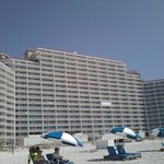 View of condo from the beach