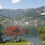 View across the lake to Zell am See