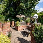 A view of our lovely terraced garden area