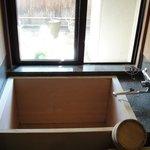 部屋檜風呂(温泉)