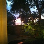 sunset from the door of my room