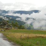 Nebelschwaden in den Bergen der Vogesen
