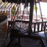 Swing chairs at the bar.