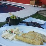 Pampering Breakfast in the pool