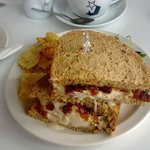 Goats cheese and seasonal fruit chutney toasted sandwich
