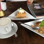 Brewed Coffee, Sweet Potato and Carrot Cake @290 php