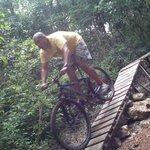 recorrido en bici de montaña estaba chiquita pero igual lo disfrute