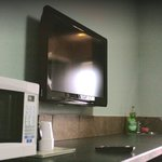 Flatscreen and Microwave in Deluxe Queen
