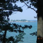 View of lake Erie from Ottoway Park across from KOA