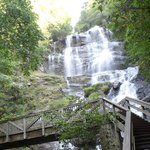 Beautiful Amicalola Falls from the bridge