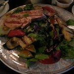 Fish and pinneaple salad