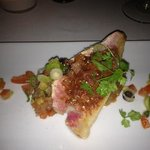 Red Mullet fish on tomato salsa