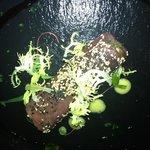 fresh tuna wrap with seaweed