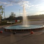 fountain in front of hotel