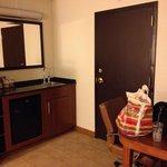 wetbar/sink/fridge area
