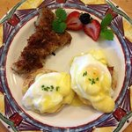 Eggs Benedict is a favorite!