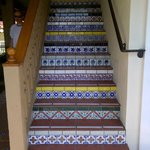 Tiled stairway at the Pepper Tree