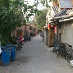 Down a safe hutong (alley)