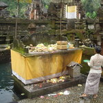 Offerings altar at the Istana Temple in Bali