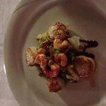 Delicious starter scallop salad