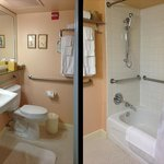 Two views of bathroom