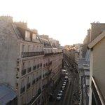 Vista dal balcone della stanza 504