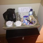 Kind of the limit of the accommodations. Hot-pot and instant coffee. Sort of dorm-roomy