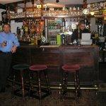 Bar area (Simon at the till).