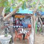 vue sur le restaurant depuis la plage