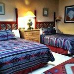 Bedroom with 2 queen beds!