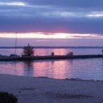 Levè de soleil sur la plage du camping Maguide