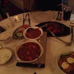 Chicken tandoori, lamb biryani, and chicken vindaloo!!