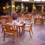 Outdoor Patio Dining Overlooking the Historic Gold and Patriot Courses