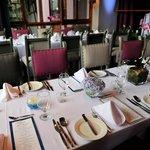 Reception in hotel's restaurant