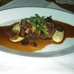 Beef tenderloin, Wild mushrooms, Haricot vert, Potato puree with Truffle essence and Cabernet Sa