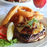 Mouth-watering 1/2 lb Island Burger