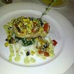 Salmon w/sauteed spinach and jasmine rice