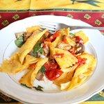 Bowtie pasta with tomato sauce