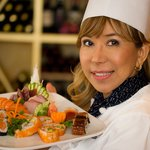 Suladda May - Owner - with one of our sushi platters