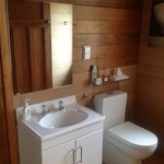 Bathroom with shower and sauna.  All toiletries are Eco friendly.
